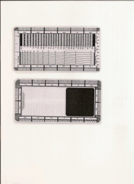 Odontómetro plastificado nacional Áspid