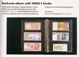 Álbum Vario, con hojas  para billetes