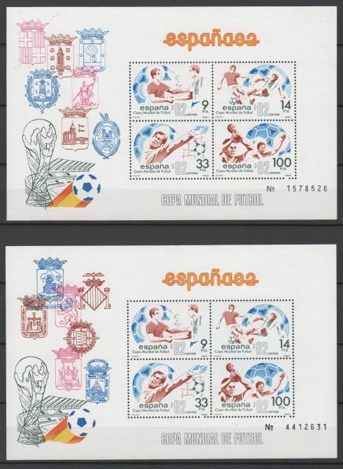 España – Año 1982 -  2 blocks  mint
