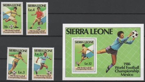 Sierra Leona  -  Yv 704 / 7  y Block 42 -  mint