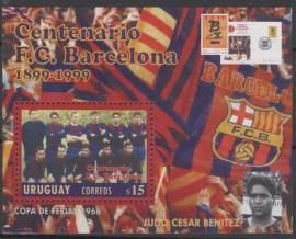 Uruguay  -  Año 1999  - Centenario del  F.C. Barcelona - Block  mint