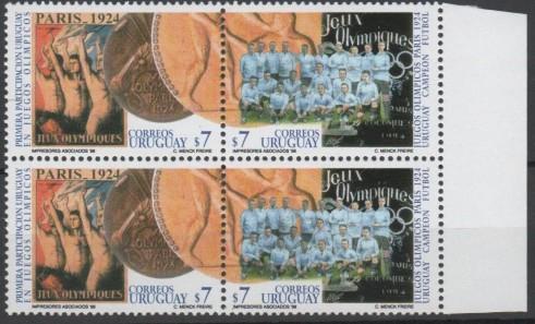 Uruguay campeón olímpico 1924 – 2 series  mint se-tenant