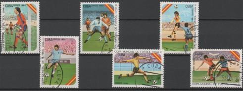 Cuba -  serie usada   Campeonato Mundial  de  España 1982 -