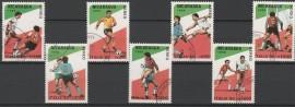 Nicaragua  - serie usada  de  Mundial  Italia 1990 -