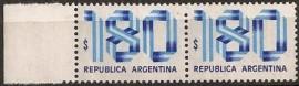 Pareja mint, Cinta Patria 180 pesos, neutro