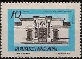 Sello mint, Casa de Tucumán 10 pesos, neutro