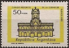 Sello mint, Cabildo de Buenos Aires 50 pesos, neutro