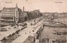 Tarjeta postal alemana, Hamburgo a Amsterdam - 1905 - Carruajes