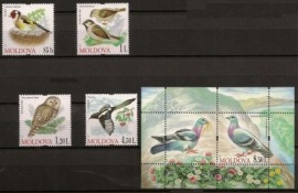 Aves (serie completa y Block) - Moldavia