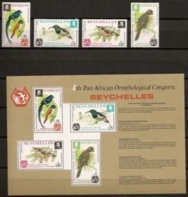 Aves (serie completa y Block) - Seychelles