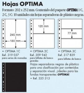Hojas (repuesto de  10 unidades) cristal  Óptima C